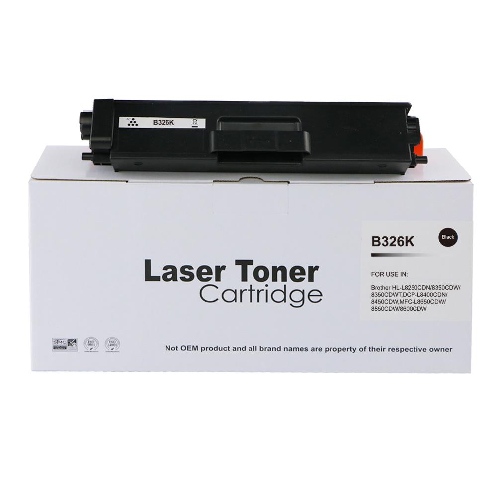 Remanufactured Brother TN326BK Black Toner Cartridge