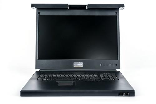 "Vertiv Avocent LRA185KMM-201 rack console 48.3 cm (19"") 1366 x 768 pixels Plastic, Steel Black 1U"