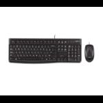 Logitech Desktop MK120, UK toetsenbord USB QWERTY Brits Engels Zwart