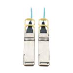 """Tripp Lite N28H-05M-AQ fiber optic cable 196.9"""" (5 m) OFNP OM3 QSFP28 Aqua"""