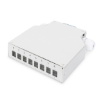 Digitus Din Rail Splice Box for 8 LC/DX couplers