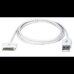"""QVS AC-5M mobile phone cable USB A Apple 30-p White 196.9"""" (5 m)"""