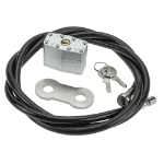 SecurityXtra HCK1021 cable lock Black, Stainless steel 1.5 m