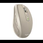 Logitech MX Anywhere 2 RF Wireless+Bluetooth Laser 1000DPI Right-hand Grey mice