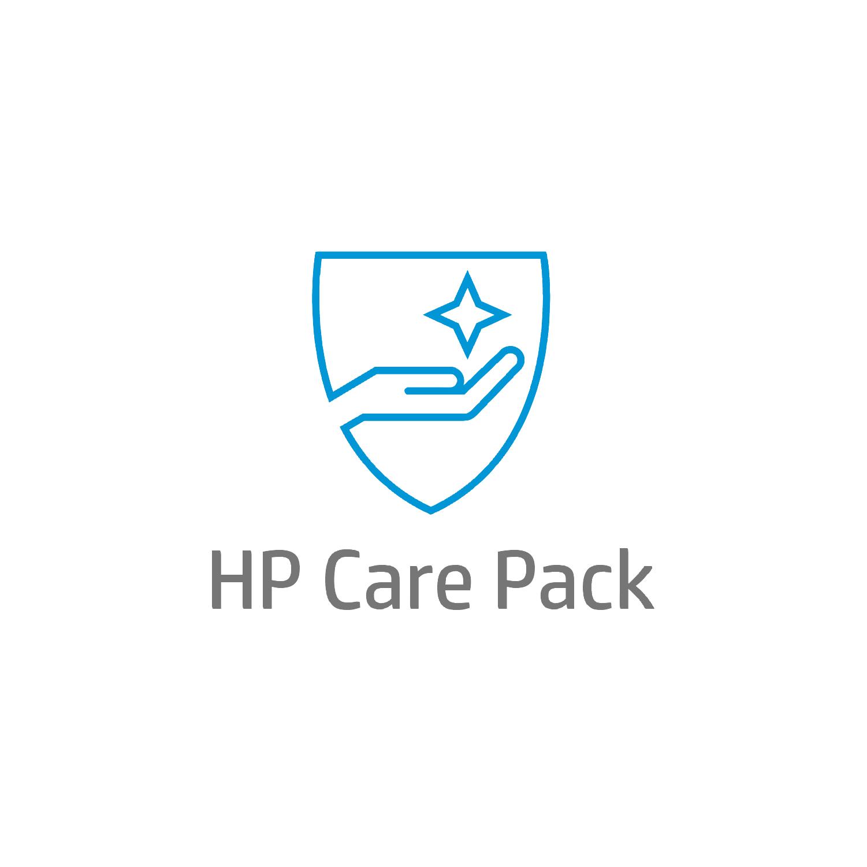 HP Servicio de 5 años con respuesta al siguiente día laborable y canal remoto con piezas para LaserJet M725 gestionada