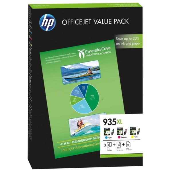 HP F6U78AE (935XL) Ink cartridge multi pack, 3x825, Pack qty 3