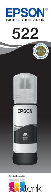 EPSON 522 Black Ink Bottle - ET-2710