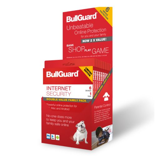 BullGuard Internet Security 2018 Retail, 6 User, Multi Device Licence, 1 Year