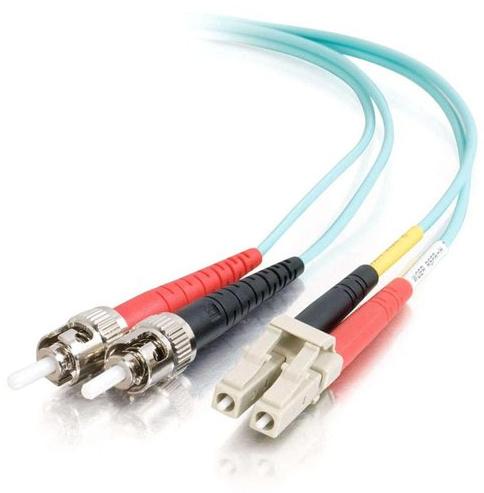 C2G 85540 fibre optic cable 1 m LC ST OFNR Turquoise