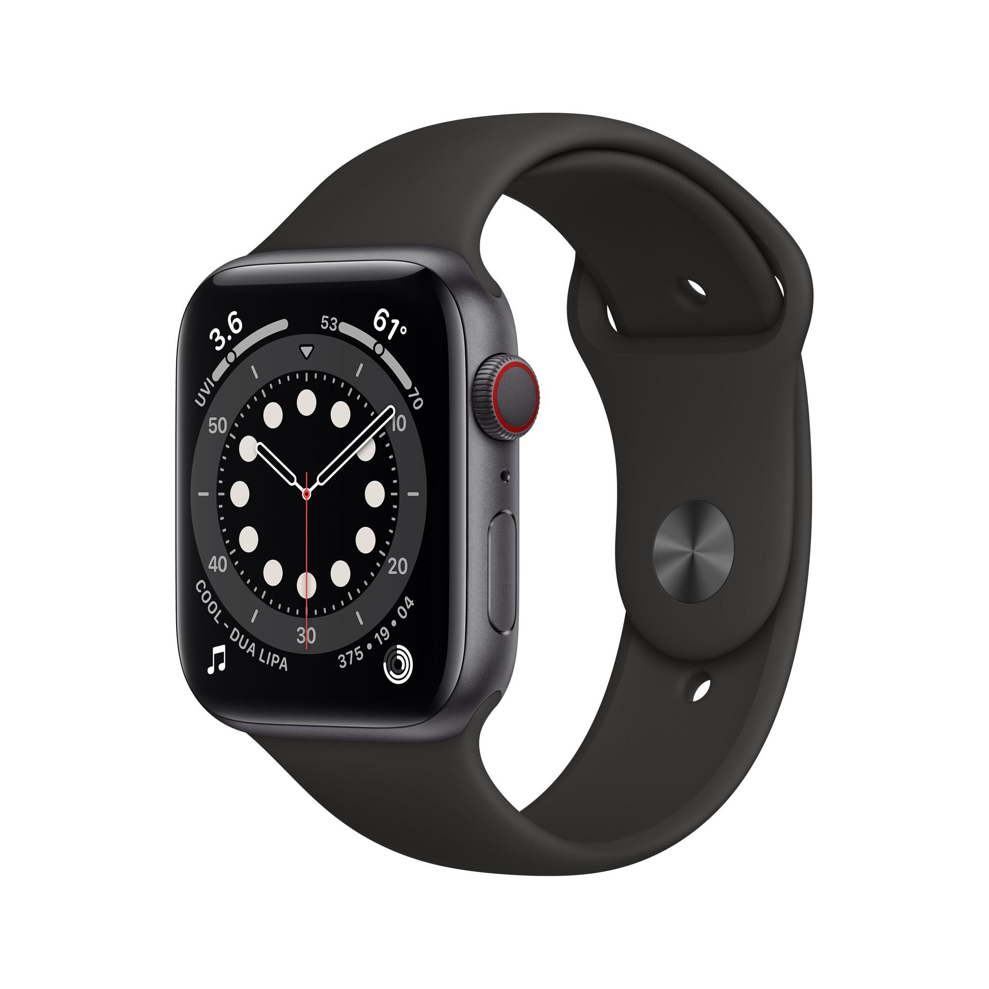 Apple Watch Series 6 OLED 44 mm Gris 4G GPS (satélite)