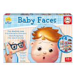 EDUCA Baby Early Learning Faces Jigsaw Puzzle, 4 Sets of 3 Pieces (15864)