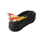 Steren Audio/Video Cable - RCA Male - RCA Male - 25ft - Black