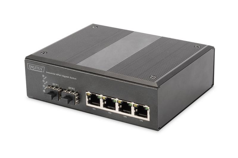 Digitus DN-651106 network switch Unmanaged L2 Gigabit Ethernet (10/100/1000) Black