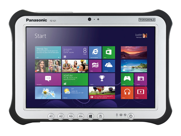 "Panasonic FZ-G1 - Tablet - Core i5 6300U / 2.4 GHz - Win 10 Pro - 8 GB RAM - 128 GB SSD - 10.1"" IPSa"