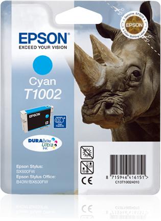 Epson Rhino inktpatroon Cyan T1002 DURABrite Ultra Ink