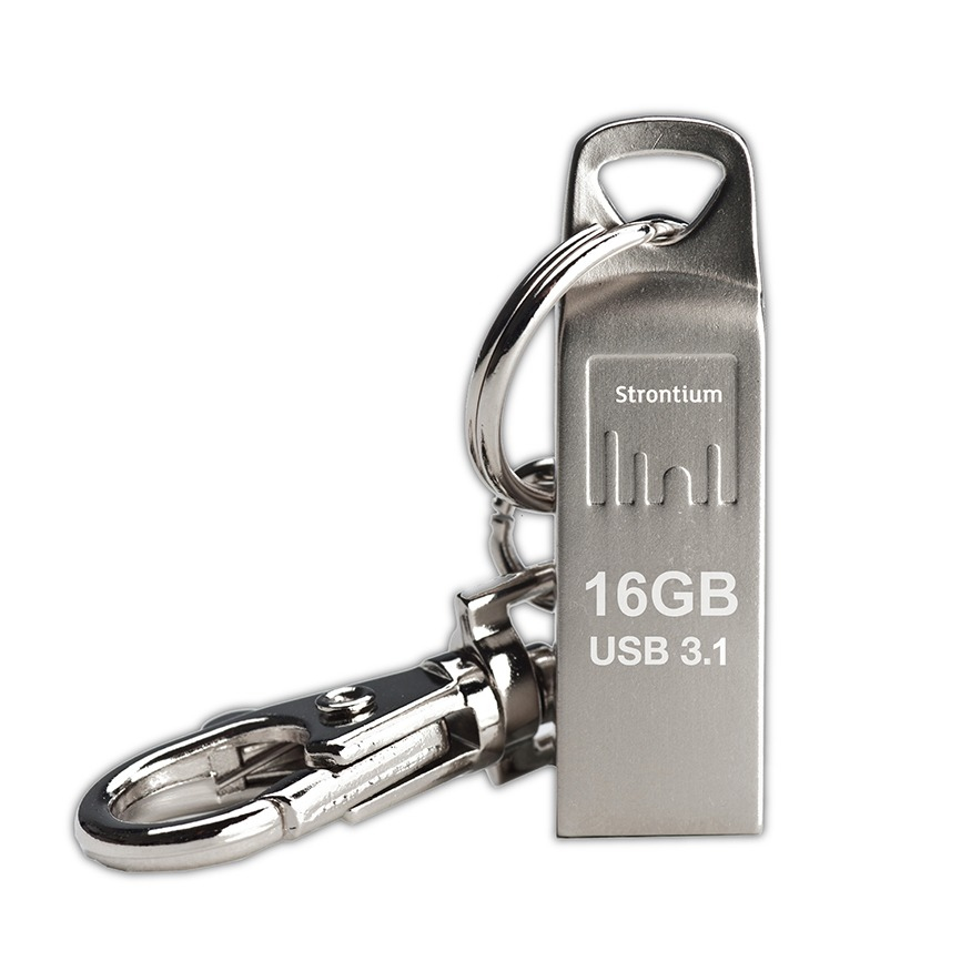 Strontium Technology AMMO USB 3.1 USB flash drive 16 GB USB Type-A 3.2 Gen 1 (3.1 Gen 1) Silver