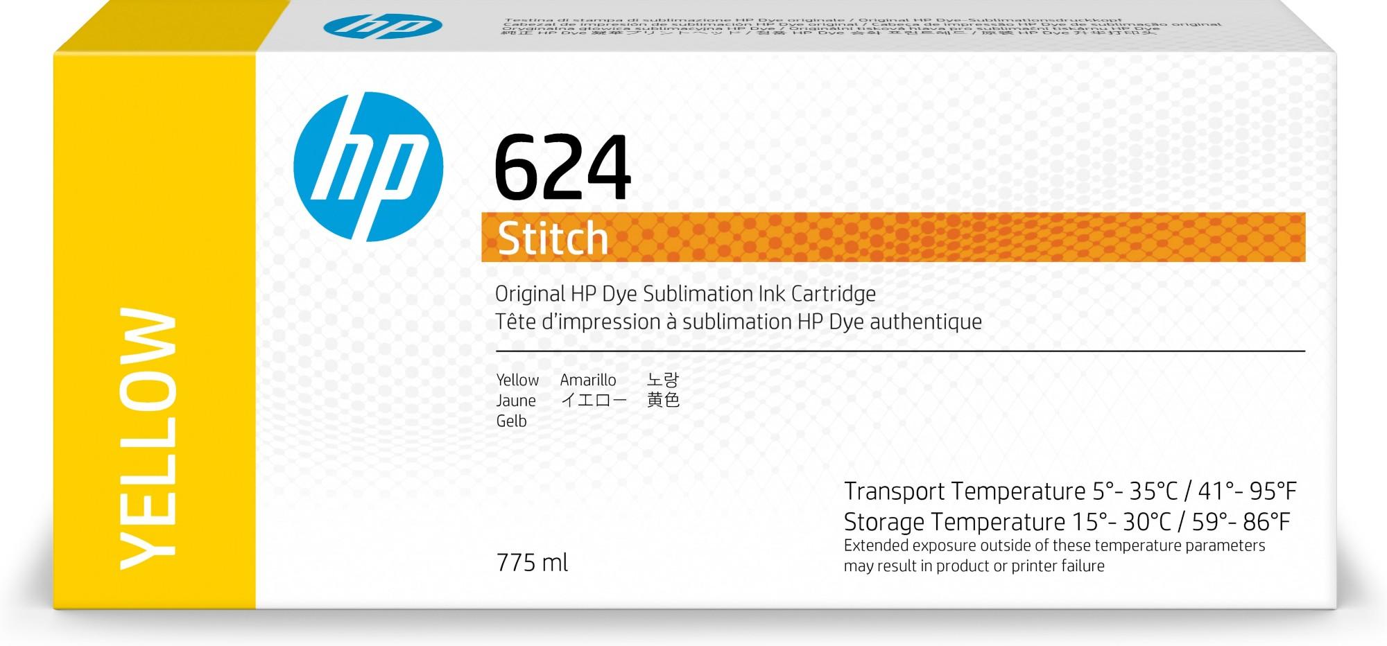 HP 624 Original Amarillo 1 pieza(s)