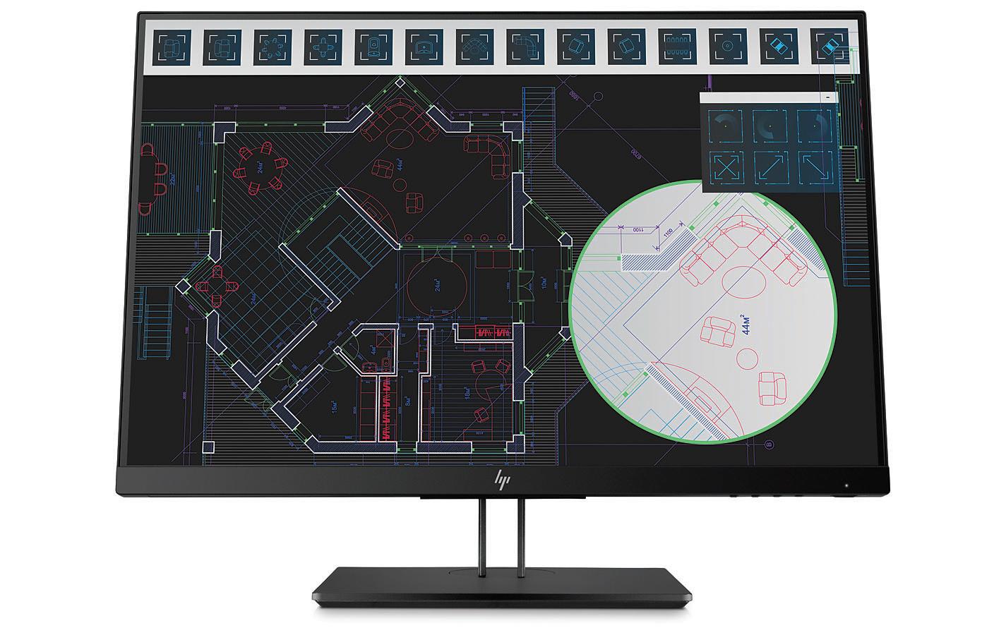 "HP Z24i G2 24"" Full HD IPS Black computer monitor"