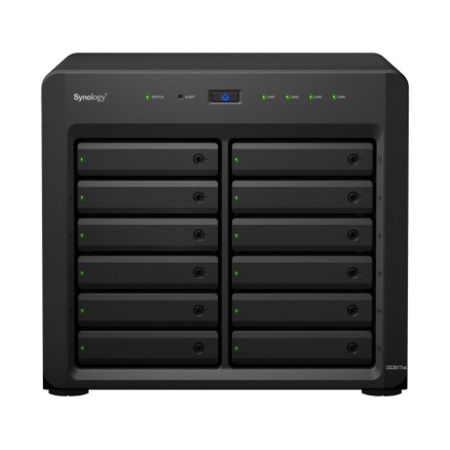 Synology DiskStation DS3617XS 12 Bays with 16GB DDR4 RAM NAS Server Black