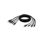 "Belkin F1DN2CCBL-MP-6 KVM cable Black 70.9"" (1.8 m)"