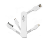 Dicota D31035 cable interface/gender adapter USB A micro USB B, Apple Lightning, Apple 30 pin White