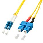 Lindy 1.0m OS2 LC - SC Duplex fiber optic cable 1 m Yellow