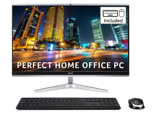 Acer Aspire C24-1650 All-in-One PC - (Intel Core i5-1135G7, 8GB, 512GB SSD, 23.8 inch Full HD Display, Wireless Keyboard and Mouse, Windows 10, Silver)