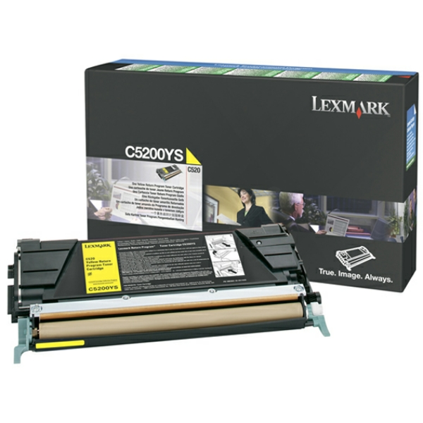 Lexmark C5200YS Toner yellow, 1.5K pages @ 5% coverage