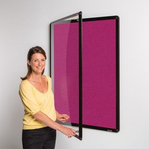 Metroplan Shield Design insert notice board Indoor Black, Magenta Aluminium