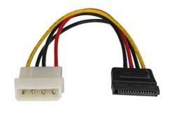 Lindy SATA Power Adapter Cable, 0.15m power cable Multicolor