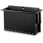 StarTech.com Dual-Module Conference Table Connectivity Box with Cable Organizer