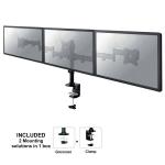 "Newstar Tilt/Turn/Rotate Triple Desk Mount (clamp) for three 10-27"" Monitor Screens, Height Adjustable - Black"