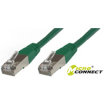 Microconnect SSTP CAT6 0.5M networking cable Green