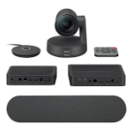 LOGITECH Rally Ultra-HD ConferenceCam System, includes Rally Camera, 1x Mic, 1x Speaker, Display Hub & Rally