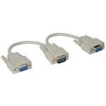C2G HD15/2xHD15 Y-Cable VGA (D-Sub) 2x HD15 FM Grey cable interface/gender adapter
