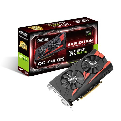 ASUS EX-GTX1050TI-O4G GeForce GTX 1050 Ti 4GB GDDR5 graphics card