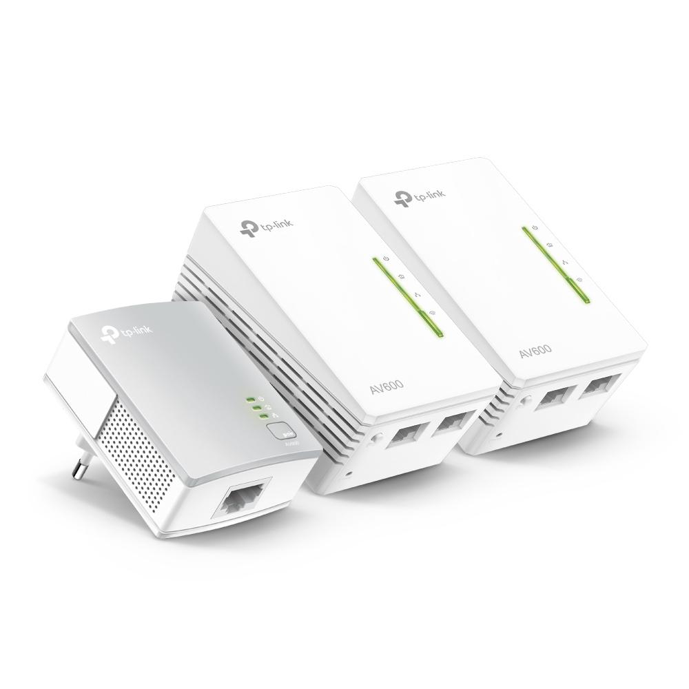 Powerline Universal Wi-Fi Range Extender, 2 Ethernet Ports, Network Kit Av500