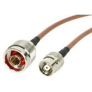 Intermec 4m, RP-TNC/N cable coaxial Marrón