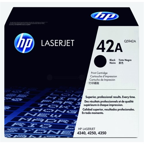 HP Toner Black 10000sheet for LJ4250 and 4350 - Q5942A