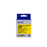 Epson Label Cartridge Magnetic LK-6YB2, zwart/geel 24 mm (1,5 m)