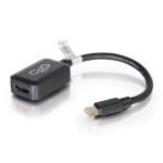 C2G 20cm Mini DisplayPort to HDMI Adapter - Thunderbolt to HDMI Converter M/F - Black
