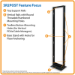 Tripp Lite 45U SmartRack 2-Post Open Frame Rack Threaded Holes