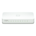D-Link GO-SW-8E/E network switch Unmanaged Fast Ethernet (10/100) White