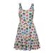 Pokémon Woman's All-over Pokeball Printed Sleeveless Dress, Large, Grey (FD270622POK-L)