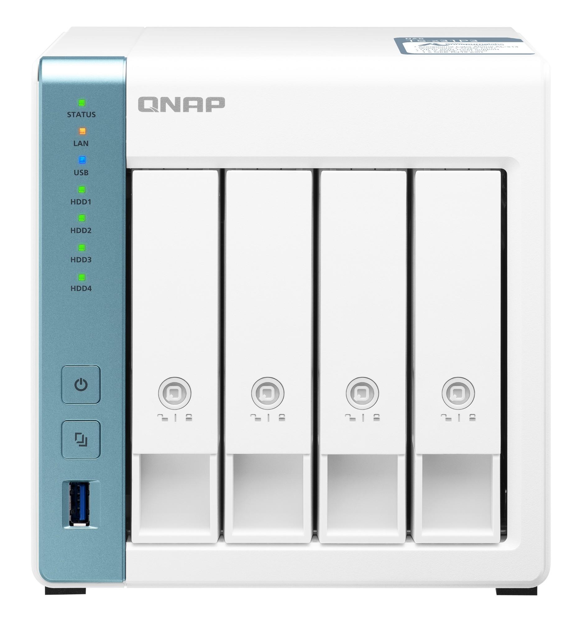 QNAP TS-431P3 AL314 Ethernet Tower Blanco NAS