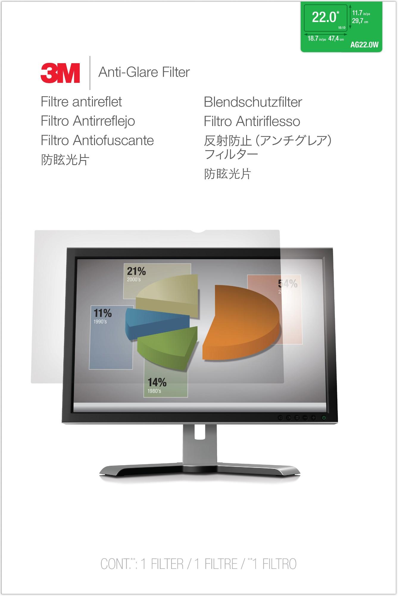 3M AG 22.0W Anti-Glare Filter