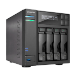 Asustor AS6404T NAS Mini Tower Ethernet LAN Black