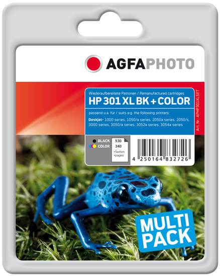 Compatible Inkjet Cartridge - Black / Colour Hp No 301xl Pages 530 Black / Pages 340 Coour (aphp301xlset)