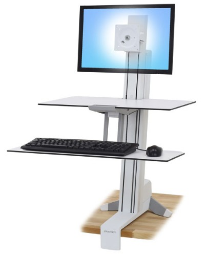 Ergotron WorkFit-S PC Multimedia stand White