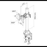 "Newstar FPMA-D965 30"" Black flat panel desk mount"
